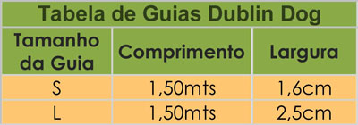Tabela de Guias Dublin Dog -  Quality for Pets